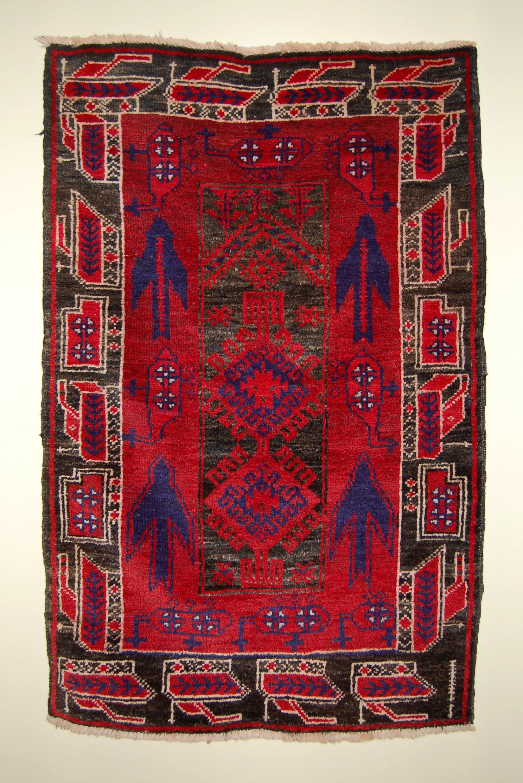 Baluch Prayer rug circa 1985. wool. NG.2009.115.000. Gift of Robert Fyke
